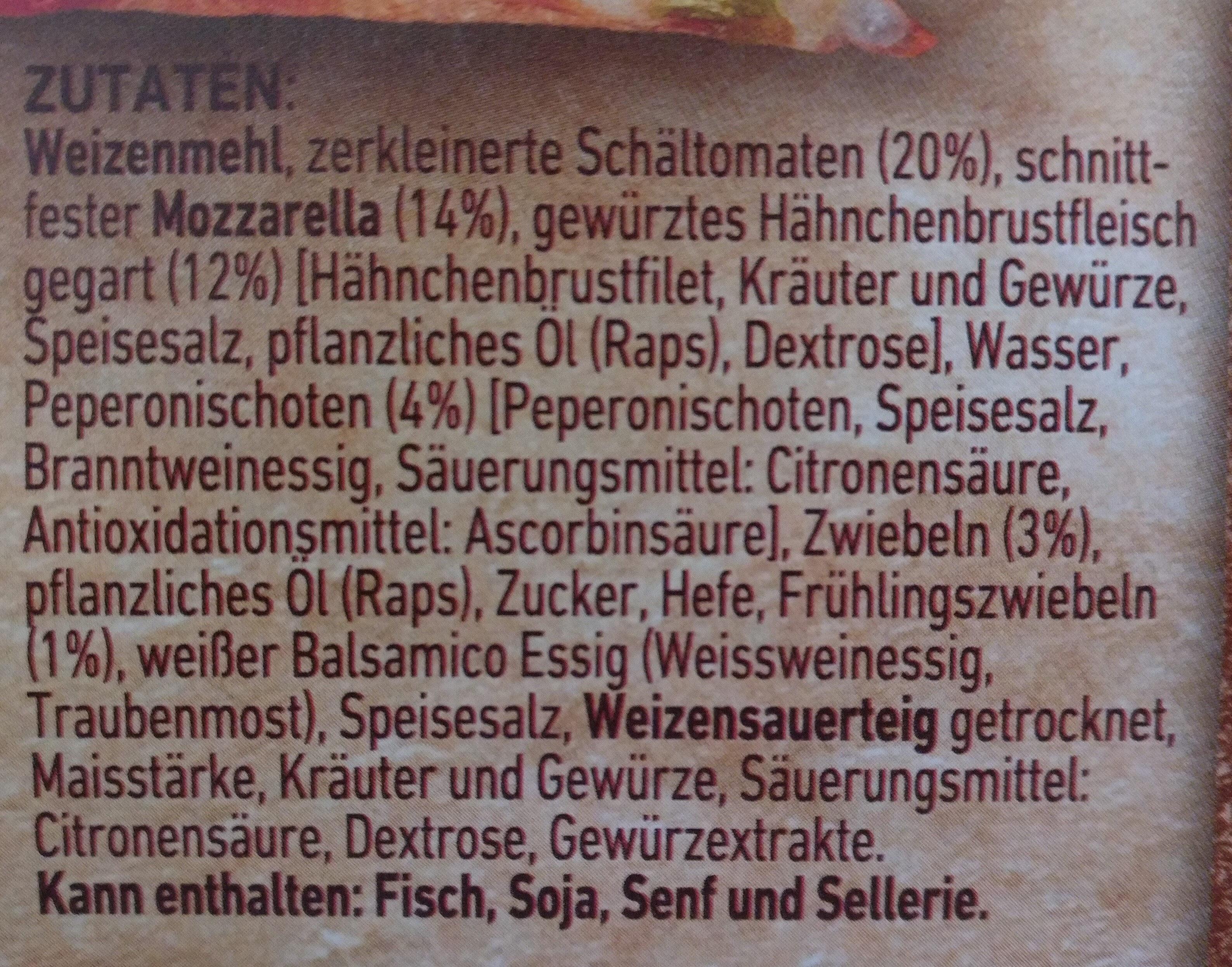 Steinofen Pizza Chicken - Inhaltsstoffe - de