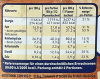Flammkuchen Elsässer Art - Informations nutritionnelles