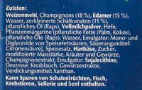 Steinofen Pizza Champignon - Zutaten - de
