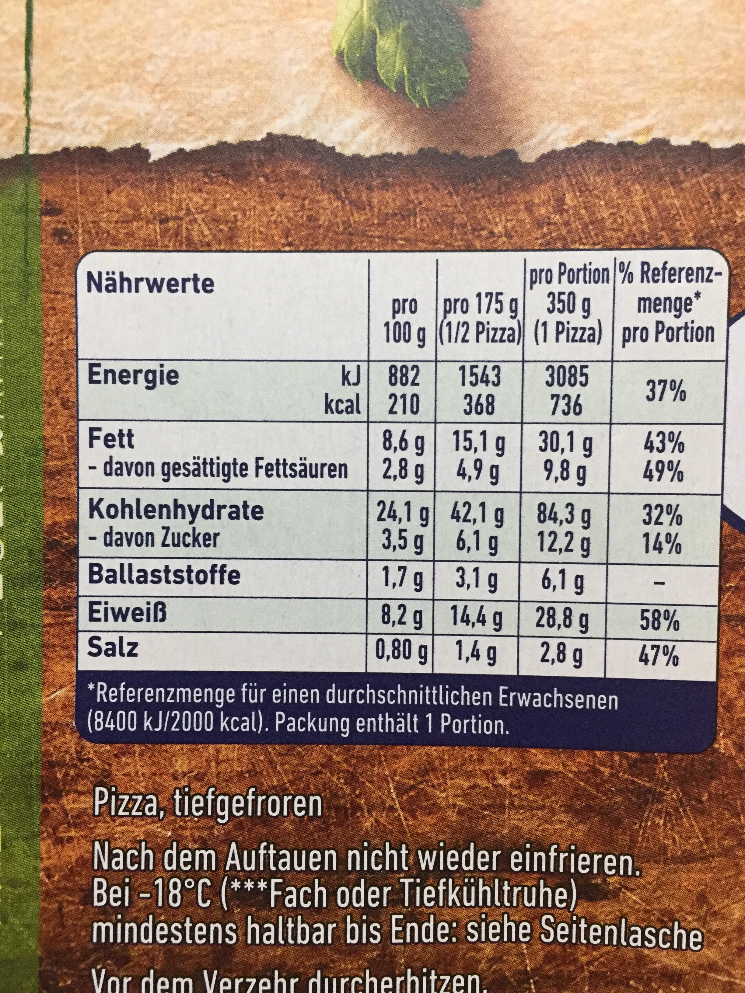 Steinofen Pizza Champignon - Informations nutritionnelles - de