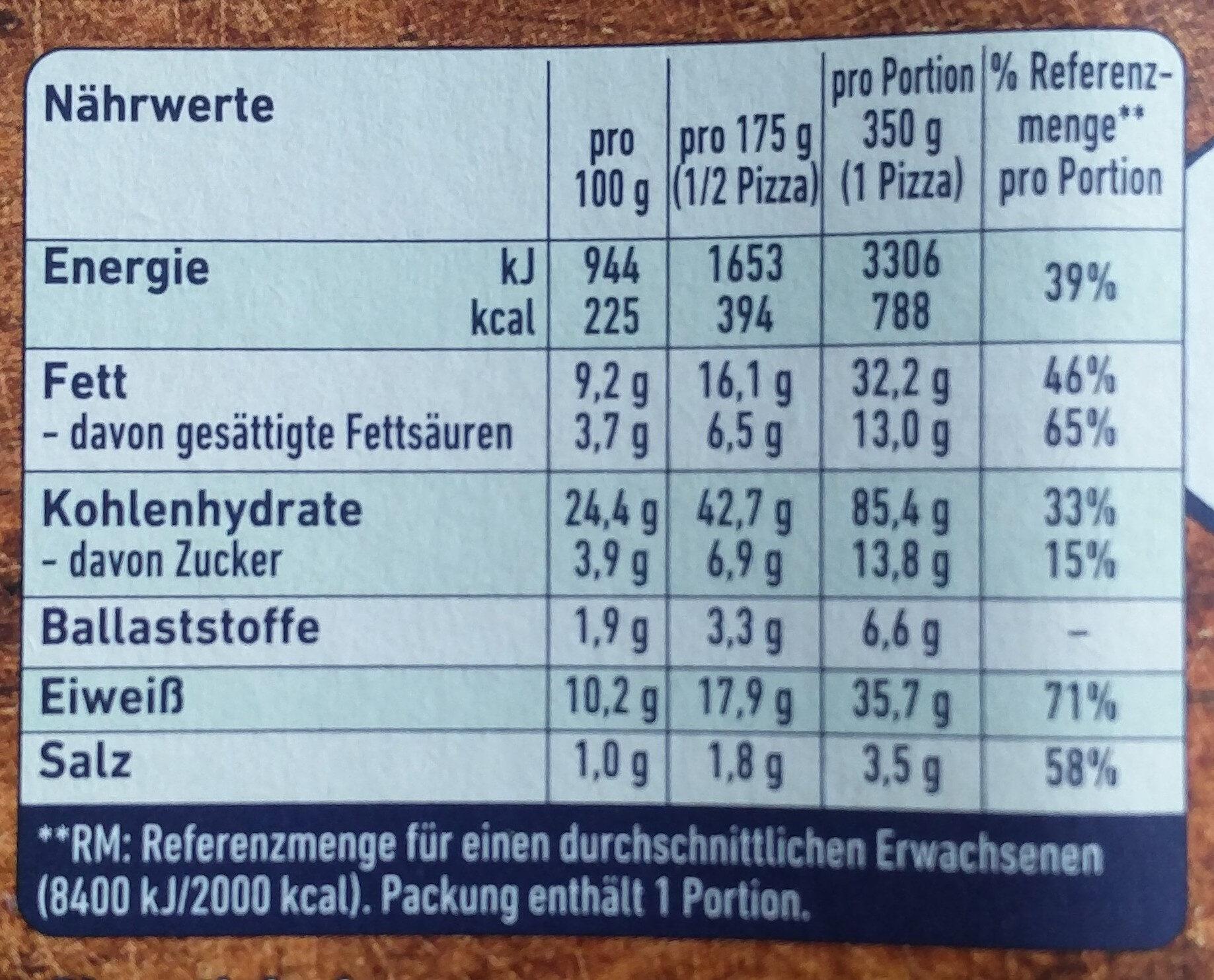 Steinofen Mozzarella - Voedingswaarden - de