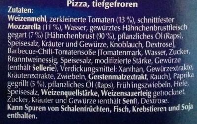 Big Pizza BBQ-Chicken - Ingredients