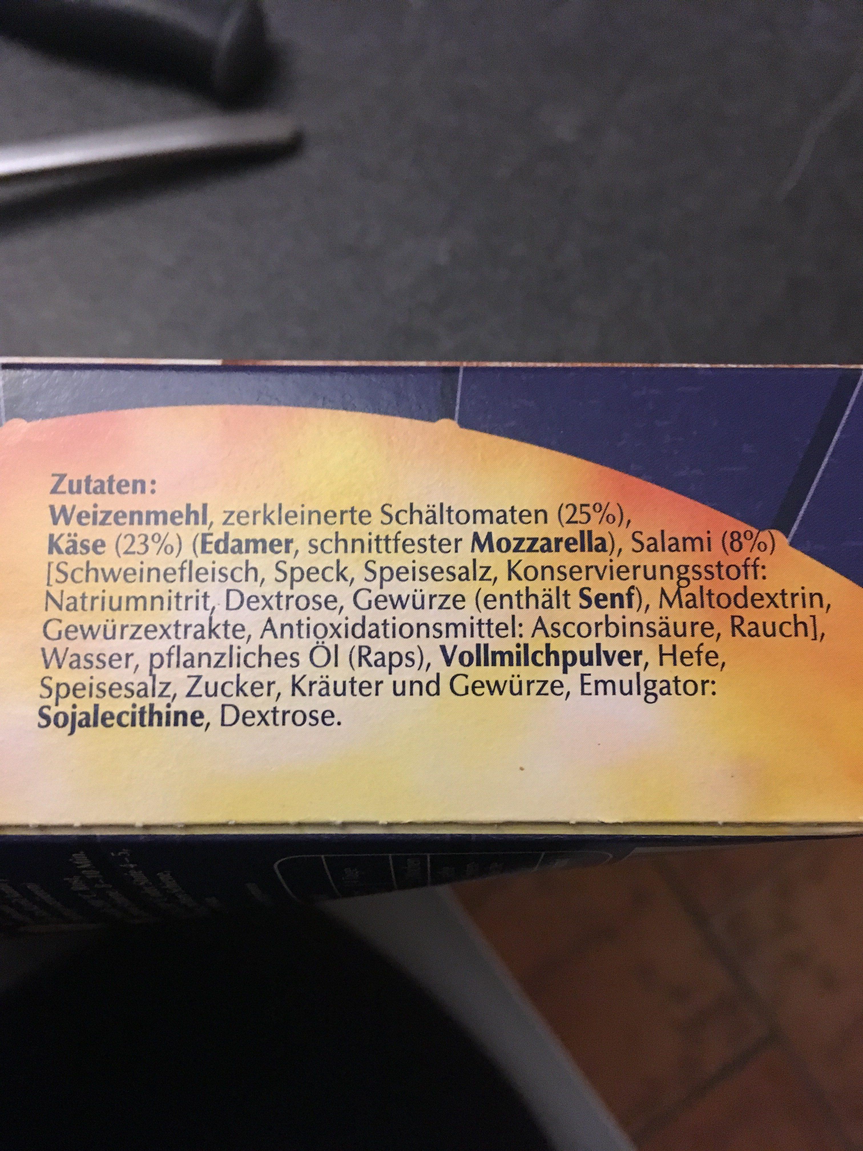 Steinofen Pizzies Salami - Ingrédients - fr
