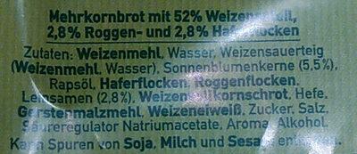 Körner Harmonie Sandwich - Ingredienti - de