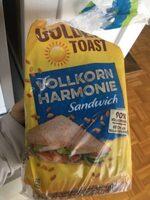 Toastbrot Vollkorn Harmonie Sandwich - Prodotto - de