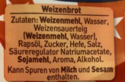 Weizenbrot - Ingrediënten