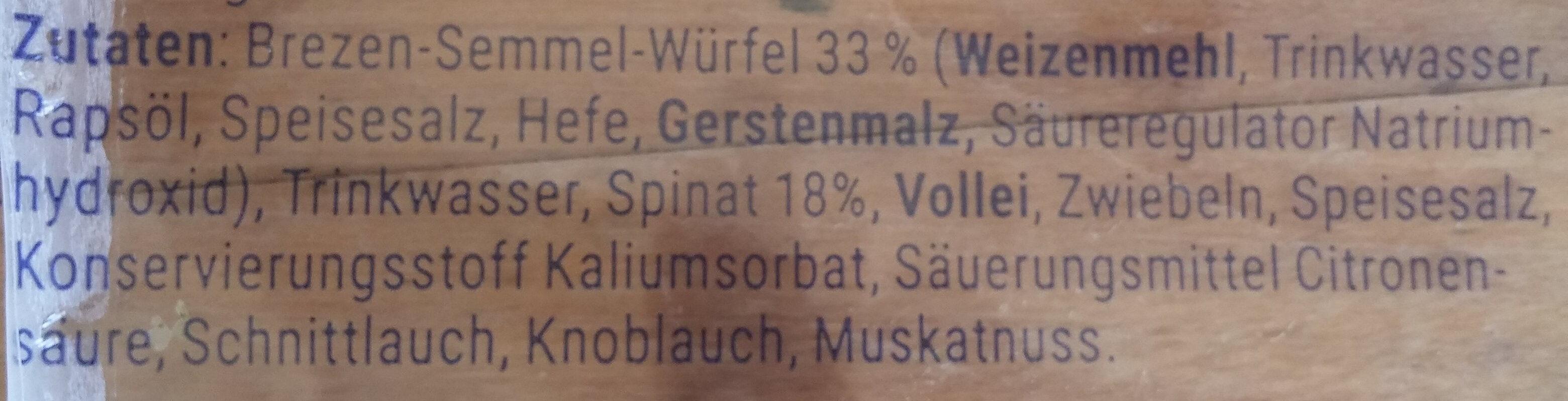 Spinatknödel - Ingrediënten - de
