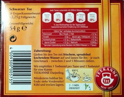 Darjeeling - Ingredients