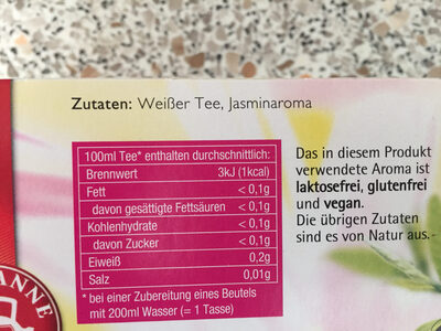 Weißer Tee - Ingredients - de