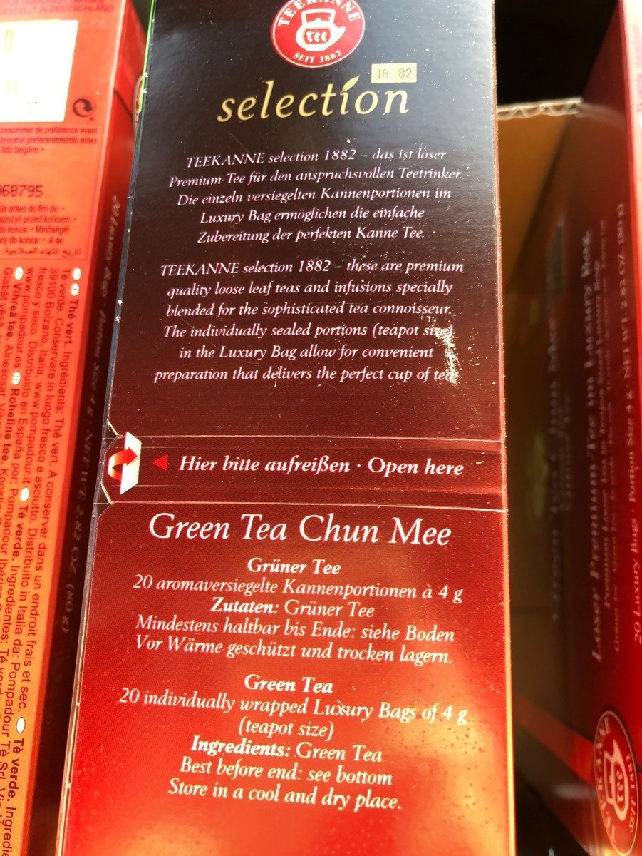 Green tea chun mee - Ingrédients - fr
