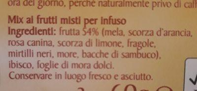 Thé Frutti Misti - Ingrediënten - fr