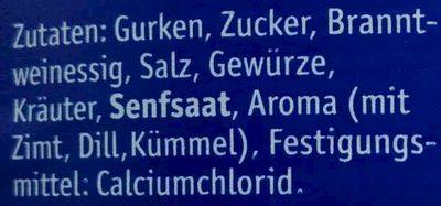 Gewürz-Gurken - Ingrédients - de
