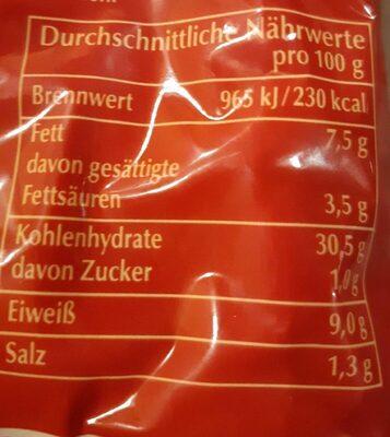 Käse Tortelloni - Valori nutrizionali