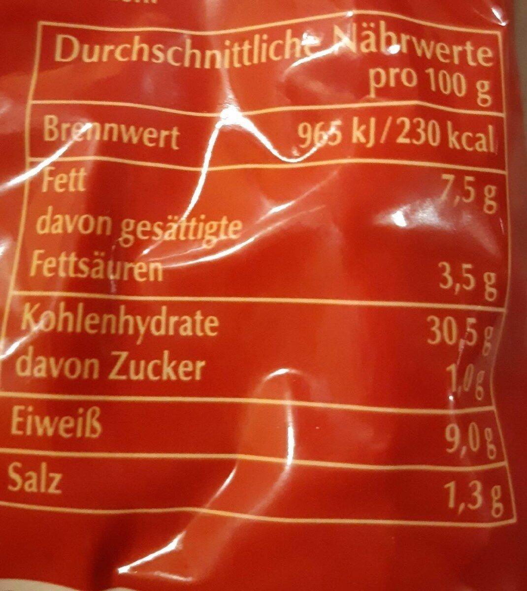 Käse Tortelloni - Valori nutrizionali - de