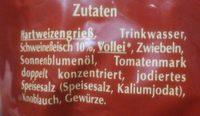 Fleisch Tortelloni - Ingredienti - de