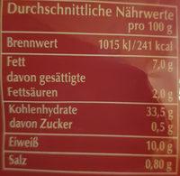 Fleisch Tortelloni - Valori nutrizionali - de