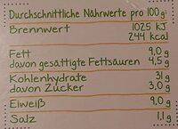 Ziegenfrischkäse-Raviolo - Informations nutritionnelles - en