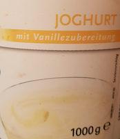 Joghurt mit Vanillezubereitung - Produkt
