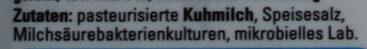 Balkankäse mild - Inhaltsstoffe - de