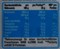 Balkankäse mild - Nährwertangaben - de