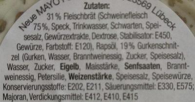 Kräuter-Fleischsalat - Inhaltsstoffe