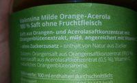 Mildes-Frühstück Orange - Ingrédients - de