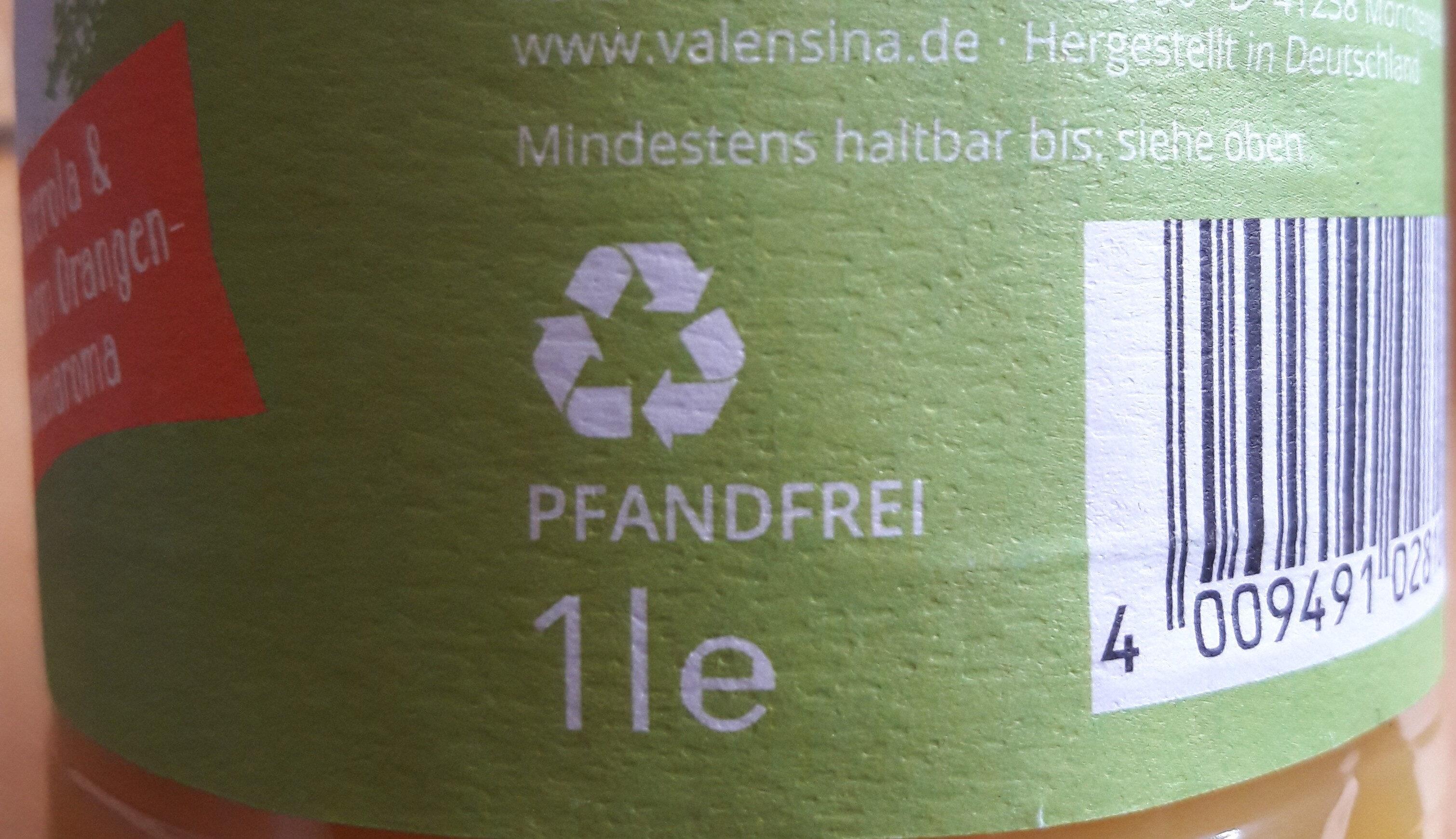 Mildes-Frühstück Orange - Instruction de recyclage et/ou informations d'emballage - de