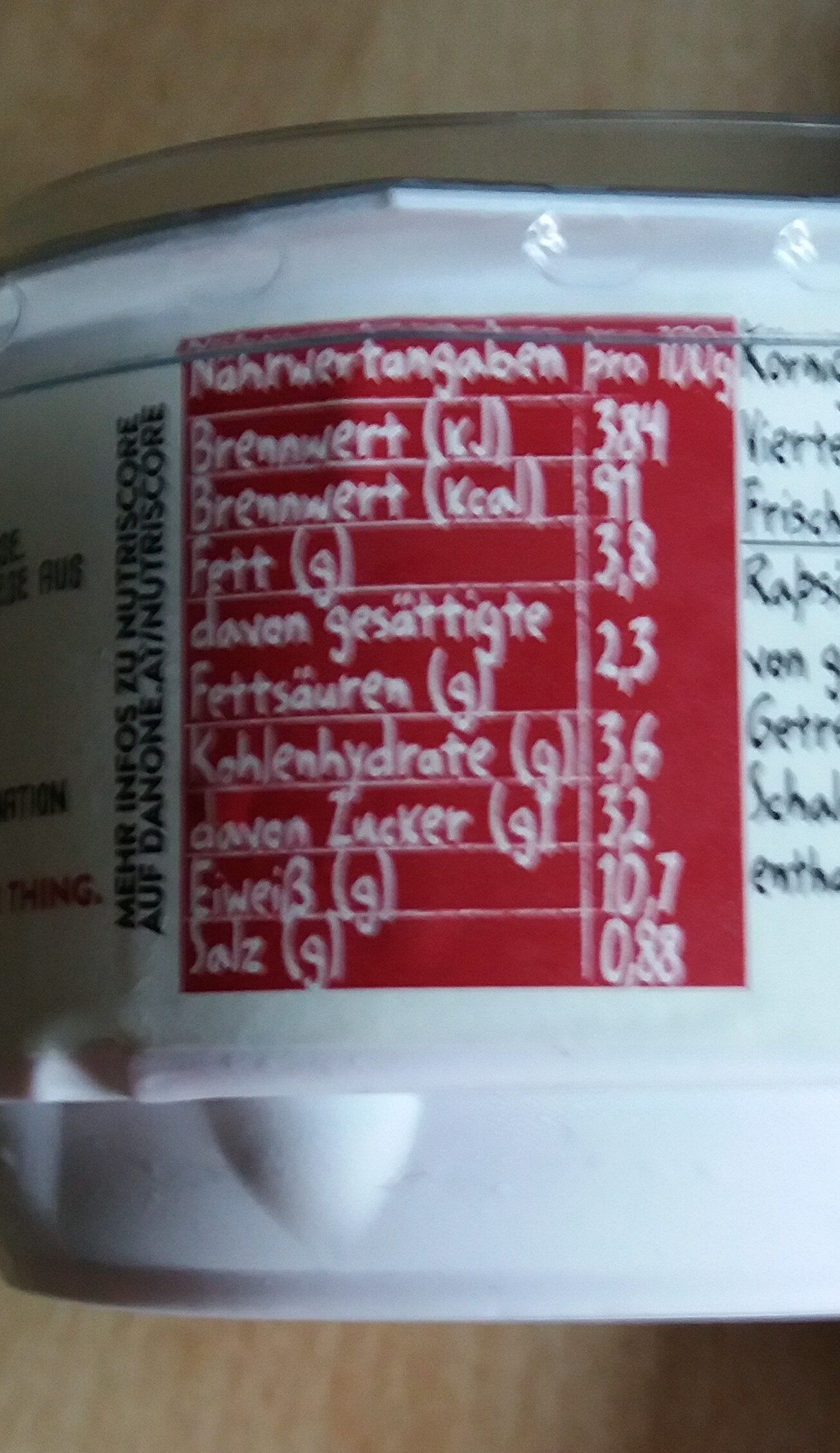 Cottage Cheese Rote Rübe und Meerrettich - Informations nutritionnelles