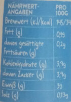 Kefir Natur - Valori nutrizionali - de