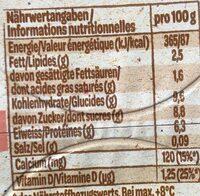 Danonino - Nutrition facts - de