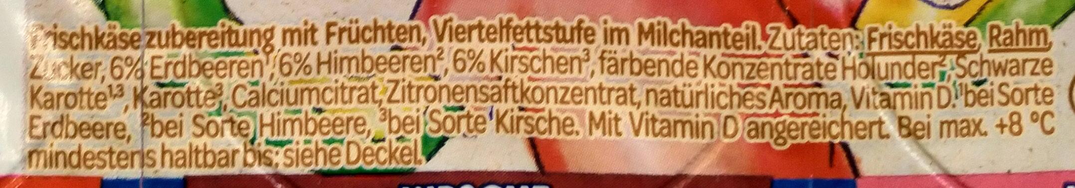 FruchtZwerge - Zutaten - de