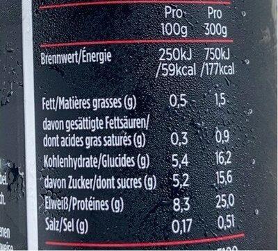 MyPro 25g Protein Trinkjoghurt - Nährwertangaben - de