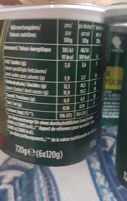 Danonne Activa flavoured yoghurt - Informazioni nutrizionali - fr