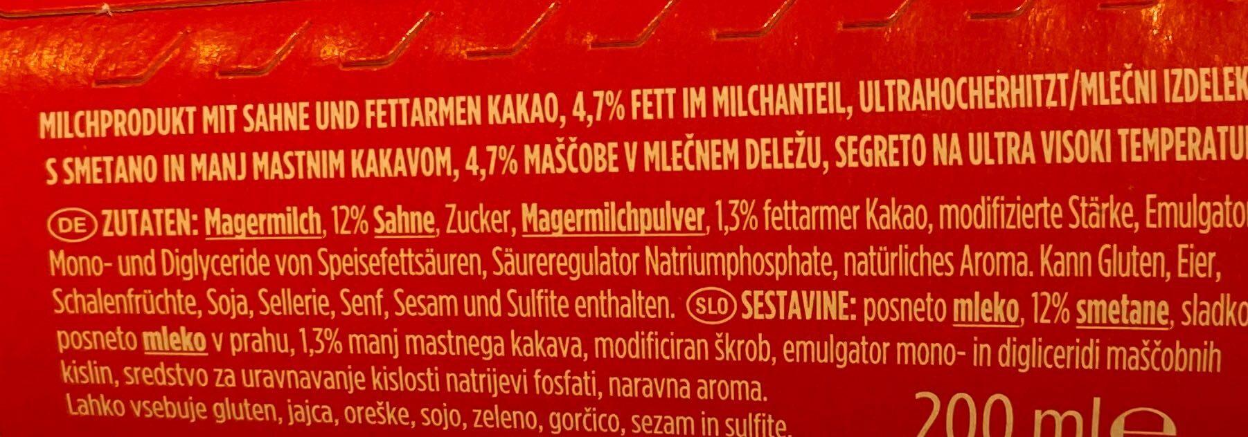 Dany SHAKE TO GO - Ingredienti - de