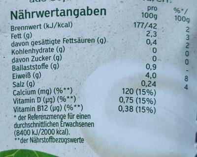 Soja mit natürlichen Bifidus Kulturen - Informazioni nutrizionali - de