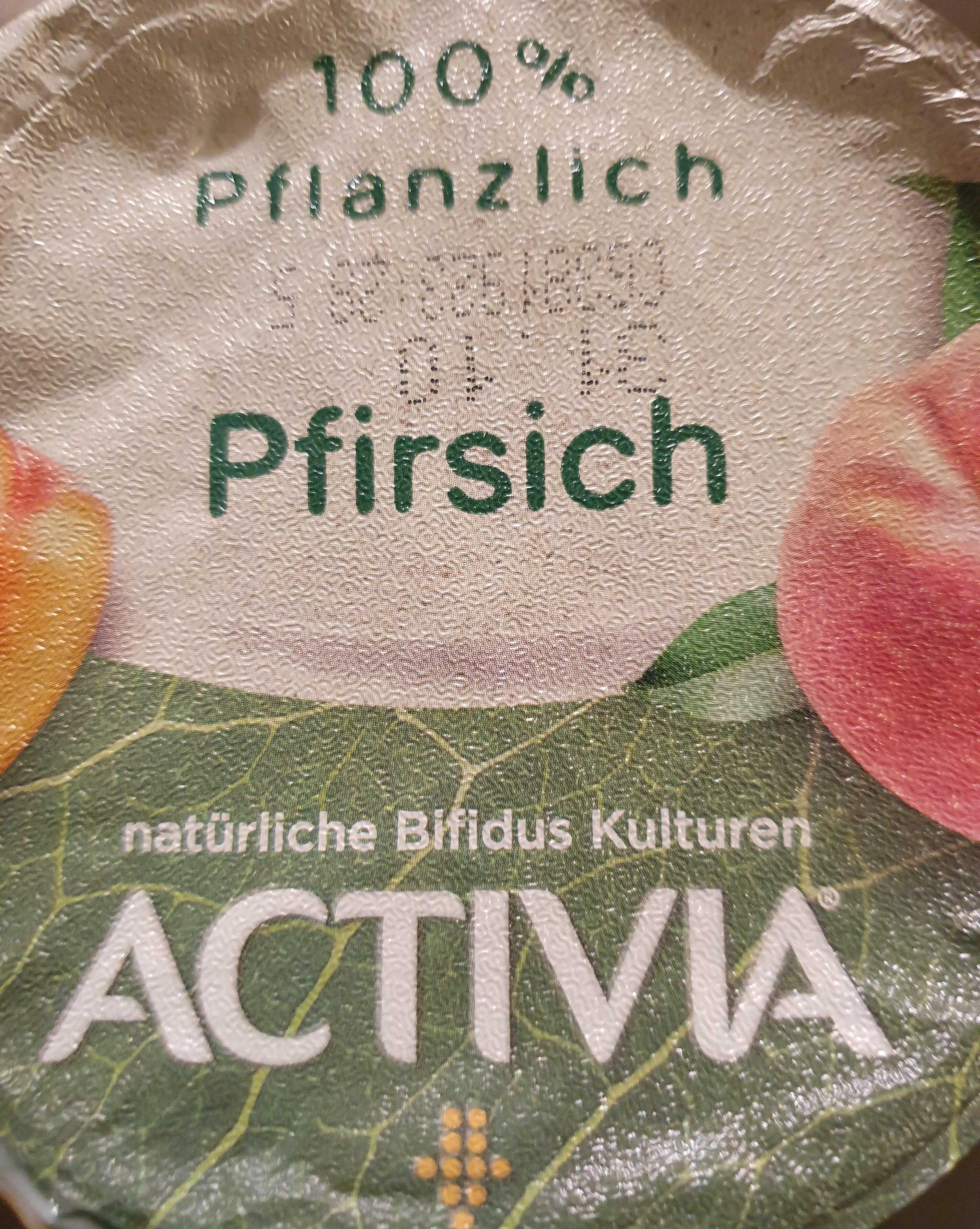Activia 100% pflanzlich pfirsich - Product - de