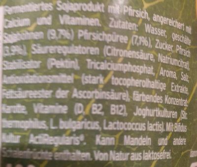 Activia 100% pflanzlich pfirsich - Ingredients - de