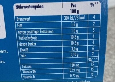 Danone Actimel Drink Classic, 8 x 100 g - Valori nutrizionali - de