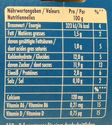 Actimel FRAISE / ERDBEERE - Informations nutritionnelles - fr