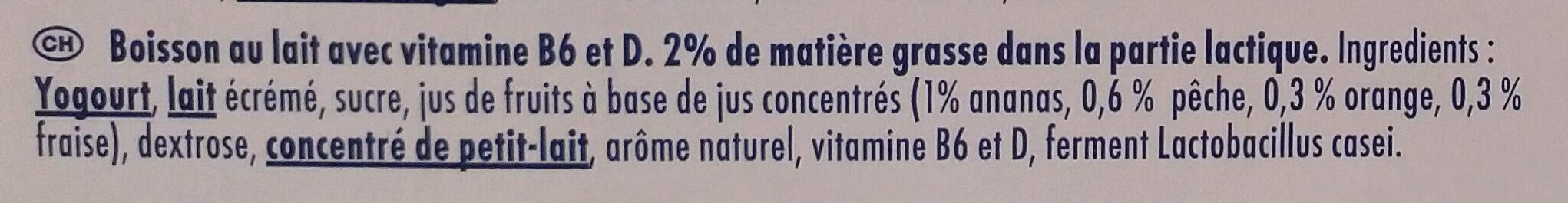 Actimel Multifrucht - Ingrédients - fr