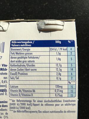 Actimel Multifrucht - Informations nutritionnelles - fr