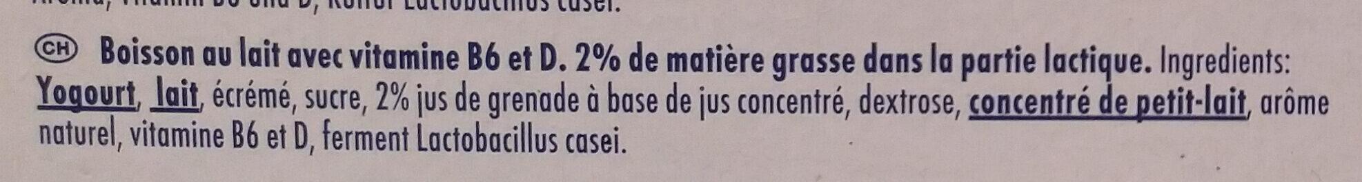 Actimel Granatapfel - Ingrédients - fr
