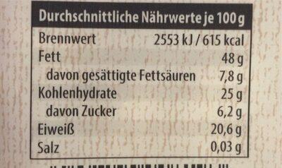 Cashewkerne - Nährwertangaben - de