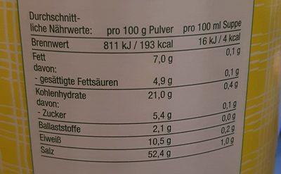Tello fix, Klare Delikatess Suppe - Voedingswaarden - fr