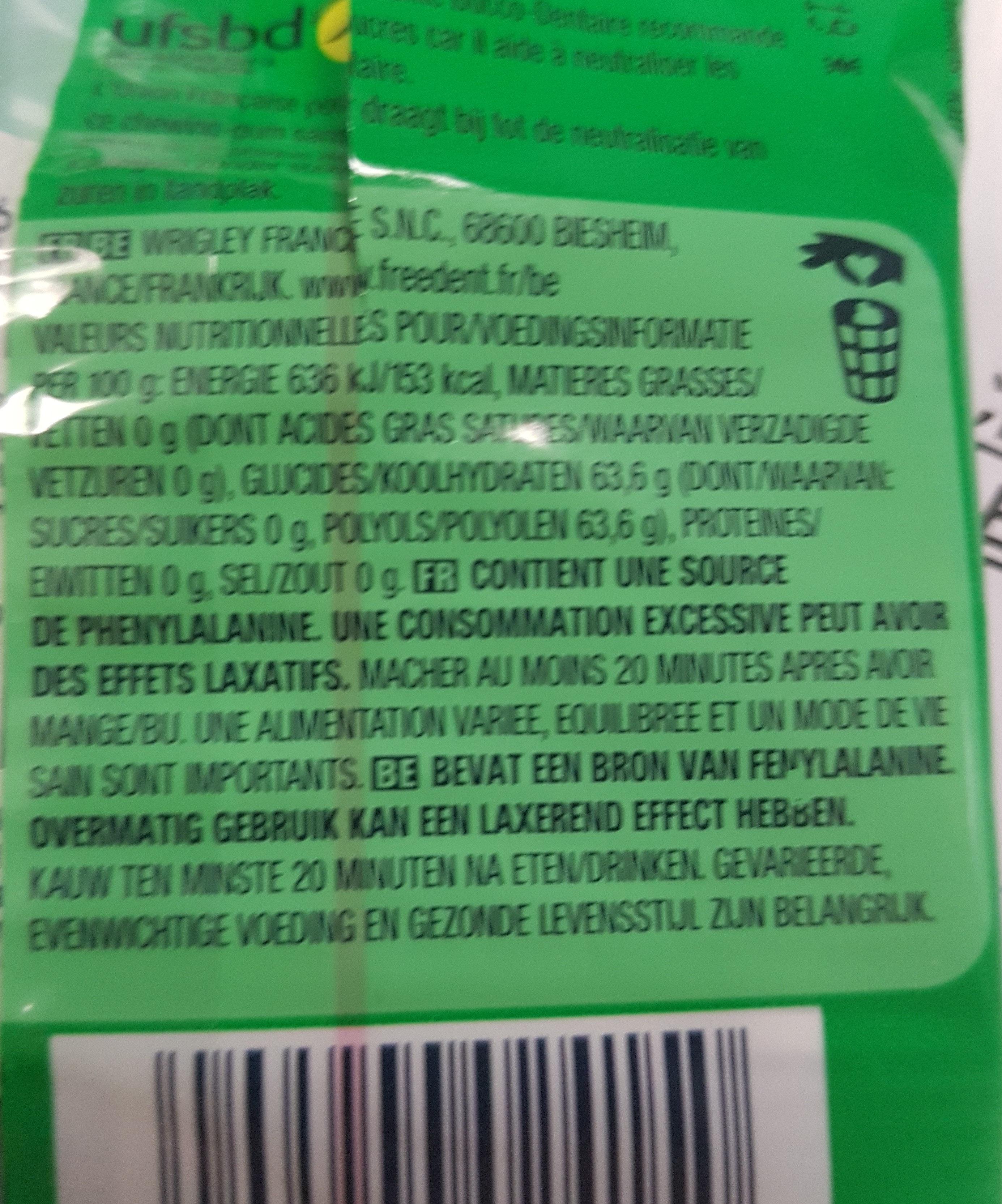 Chewing-gum sans sucres au goût menthe verte - Ingrediënten