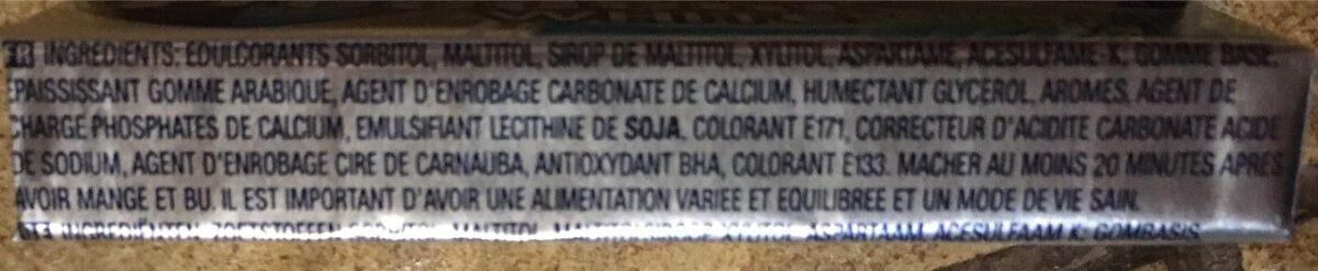 Freedent white - Ingredients - fr