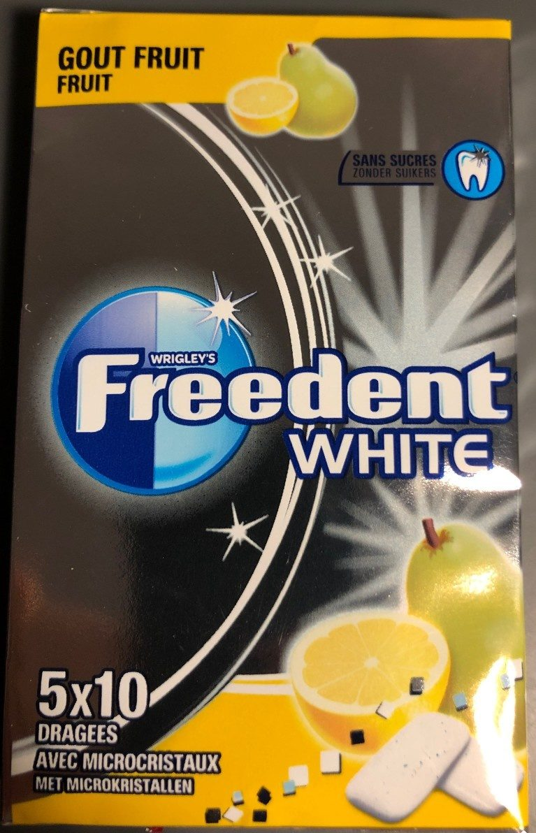Freedent white goût Fruit - Product - fr