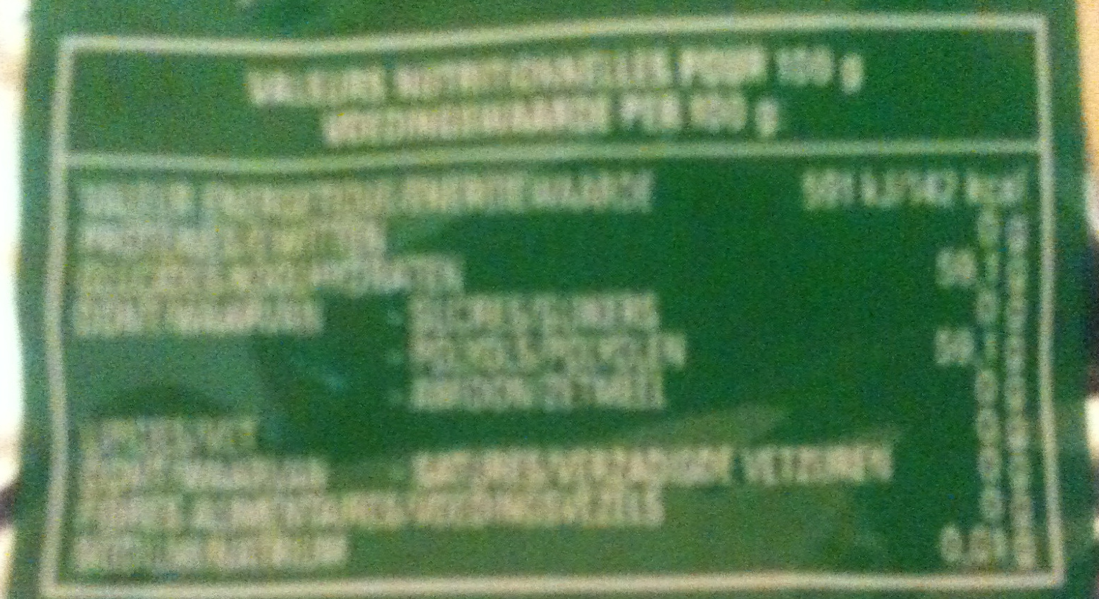 Freedent - White - Menthe Verte - Informations nutritionnelles
