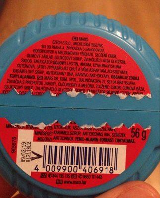 Fraise Myrtille Pasteque Huba Bubba - Ingrédients - fr