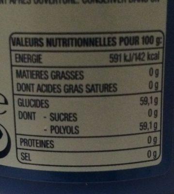 Airwaves Menthol & Eukalyptus Dose - Nutrition facts - fr